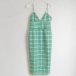 ASOS Check Midi Dress